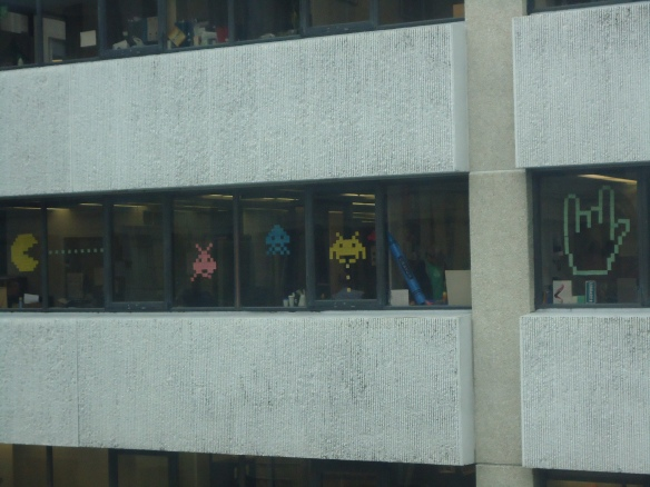 The office building across from us had some cool window decals.